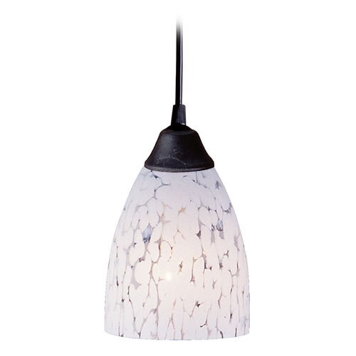 Elk Lighting Elk Lighting Classico Dark Rust LED Mini-Pendant Light with Bowl / Dome Shade 406-1SW-LED