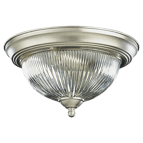Quorum Lighting Quorum Lighting Satin Nickel Flushmount Light 3070-13-65