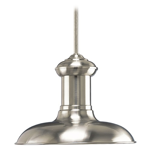 Progress Lighting Progress Lighting Brookside Brushed Nickel LED Pendant Light with Bowl / Dome Shade P5024-0930K9