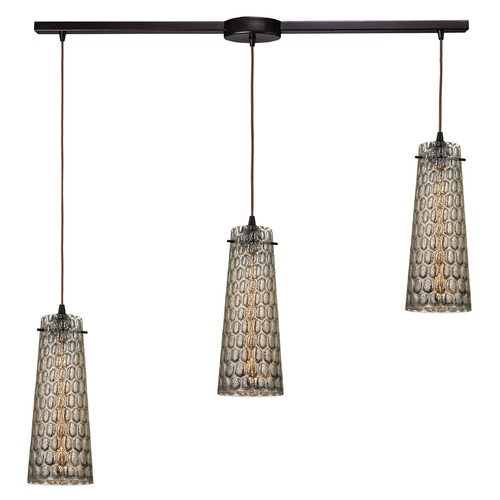 Elk Lighting Elk Lighting Jerard Oil Rubbed Bronze Multi-Light Pendant with Conical Shade 10248/3L
