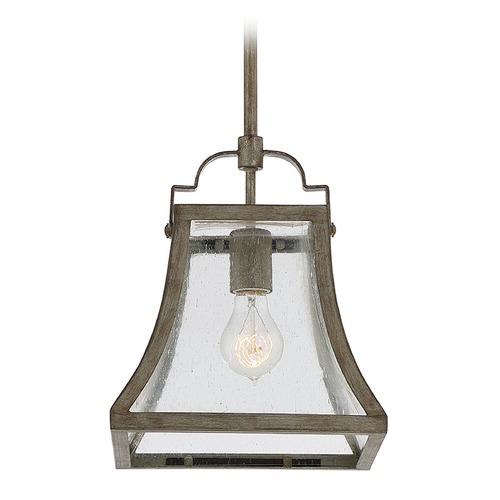 Savoy House Square Seeded Glass Mini-Pendant Light Bronze Savoy House 7-923-1-12