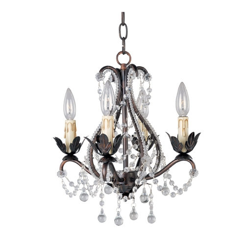 Maxim Lighting Crystal Chandelier in Oil Rubbed Bronze Finish 20052OI