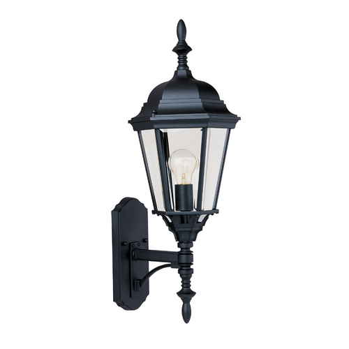 Maxim Lighting Outdoor Wall Light with Clear Glass in Black Finish 1003BK