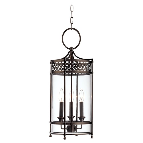 Hudson Valley Lighting Pendant Light with Clear Glass in Distressed Bronze Finish 8993-DB
