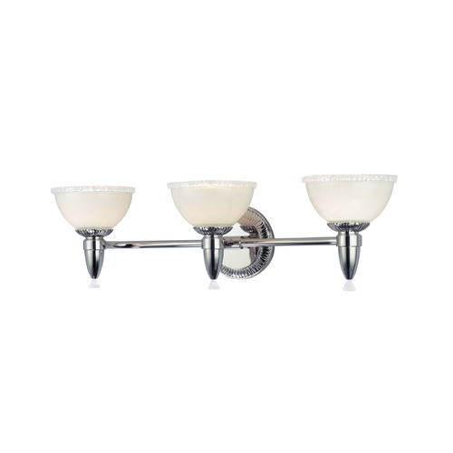 Hudson Valley Lighting Bathroom Light with White Glass in Brushed Bronze Finish 4993-BB