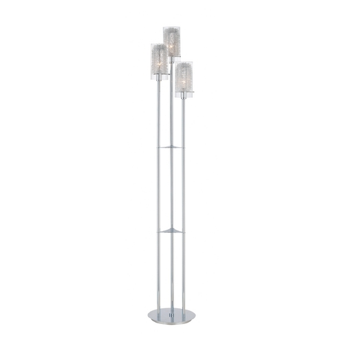 Lite Source Lighting Lite Source Lighting Caldwell Chrome Floor Lamp with Cylindrical Shade LS-80378