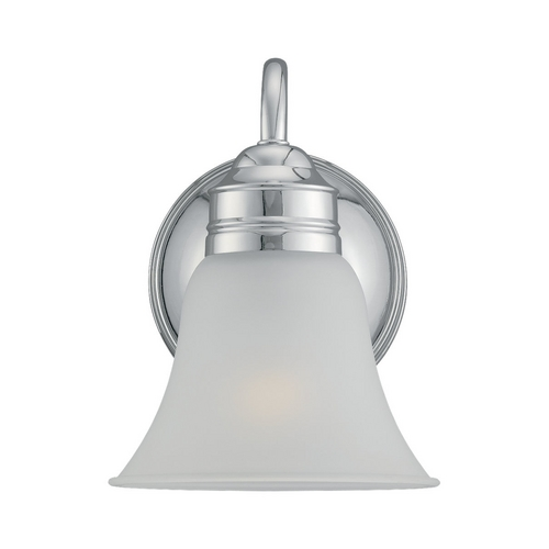 Sea Gull Lighting Sconce Wall Light with White Glass in Chrome Finish 44850-05