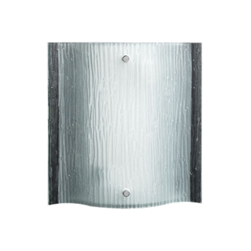 PLC Lighting Modern Sconce Wall Light with White Glass in Polished Chrome Finish 7536 PC