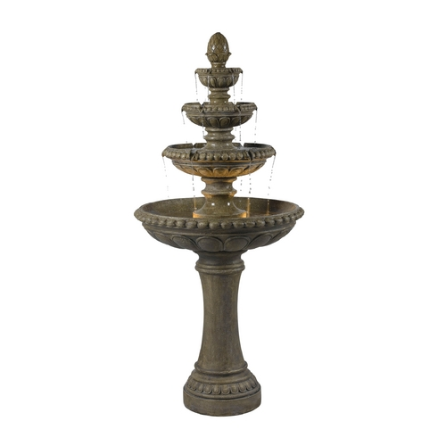 Kenroy Home Lighting Outdoor Fountain in Tuscan Earth Finish 50231TE
