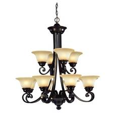 Dolan Designs Lighting Twelve-Light Two-Tier Chandelier 1082-207