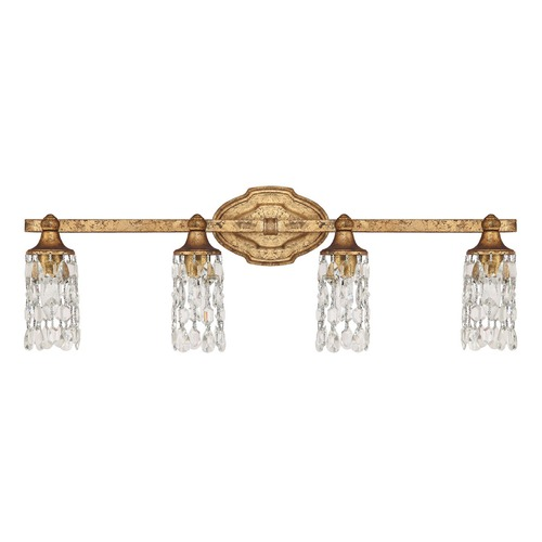 Capital Lighting Capital Lighting Blakely Antique Gold Bathroom Light 8524AG-CR