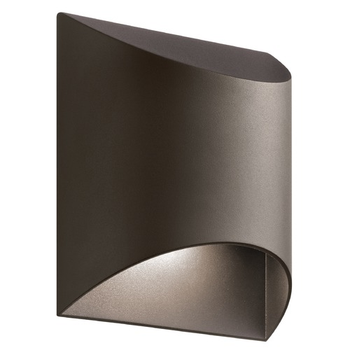 Kichler Lighting Kichler Lighting Wesly Textured Architectural Bronze LED Outdoor Wall Light 49278AZTLED