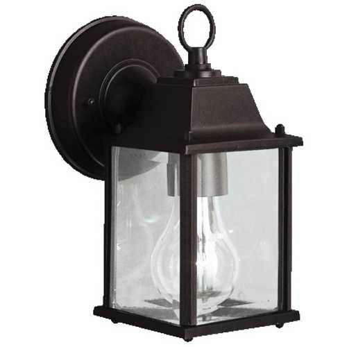 Kichler Lighting Kichler Outdoor Wall Light with Clear Glass in Black Finish 9794BK