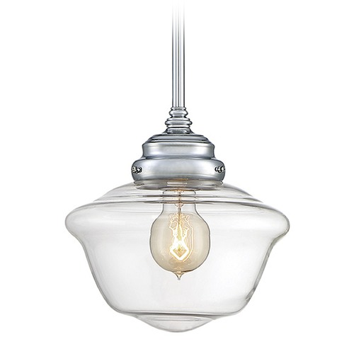Savoy House Savoy House Lighting School House Polished Chrome Mini-Pendant Light 7-9345-1-11