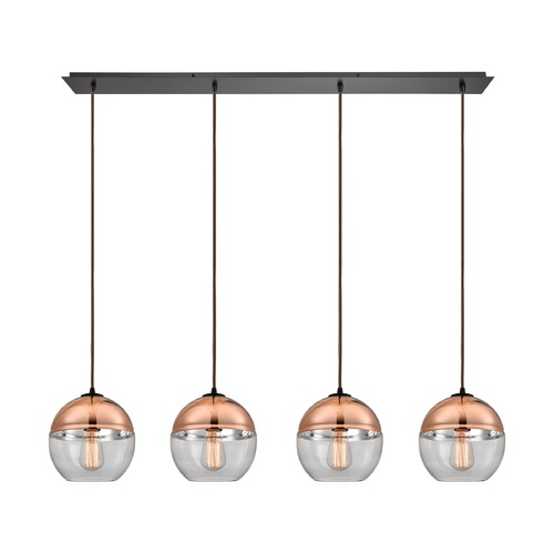 Elk Lighting Elk Lighting Revelo Oil Rubbed Bronze Multi-Light Pendant with Globe Shade 10490/4LP