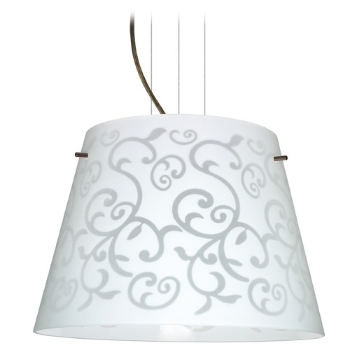 Besa Lighting Besa Lighting Amelia Bronze LED Pendant Light with Empire Shade 1KV-4394WD-LED-BR
