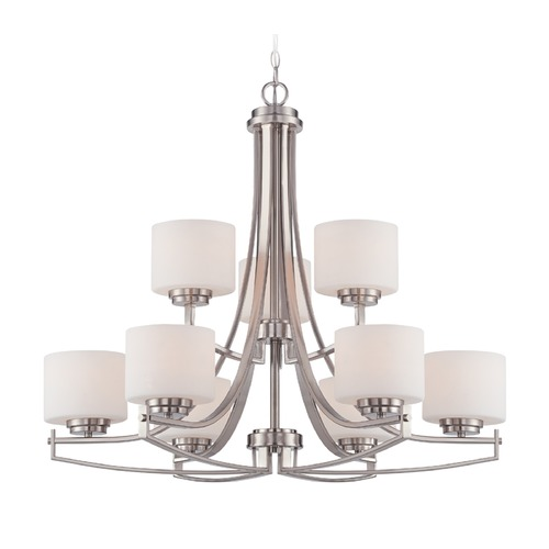Designers Fountain Lighting Designers Fountain Axel Satin Platinum Chandelier 86289-SP