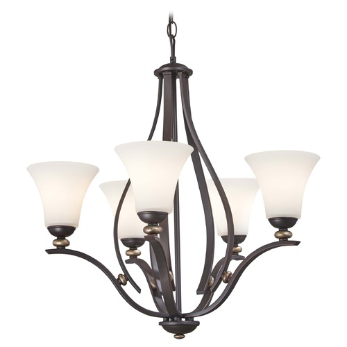 Minka Lavery Minka Shadowglen Lathan Bronze with Gold Chandelier 3285-589