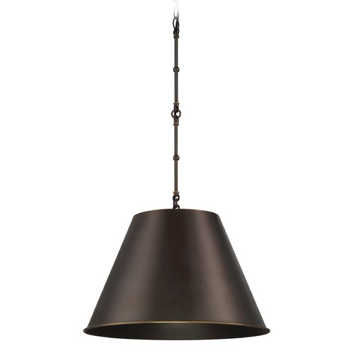 Savoy House Savoy House Lighting Alden Old Bronze Pendant Light with Coolie Shade 7-131-1-323