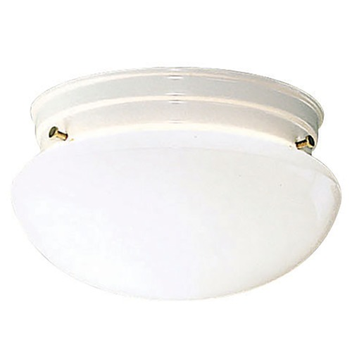Kichler Lighting Kichler Modern Flushmount Light with White Glass in White Finish 209WH