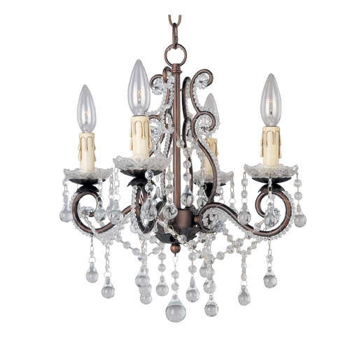 Maxim Lighting Maxim Lighting Bronze Crystal Chandelier 20054OI