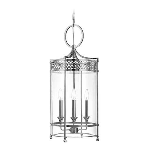 Hudson Valley Lighting Pendant Light with Clear Glass in Polished Nickel Finish 8993-PN