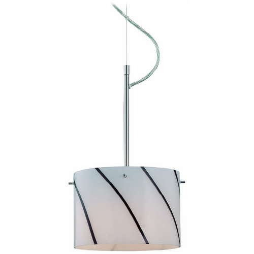 Lite Source Lighting Modern Mini-Pendant Light with White Glass LS-19340