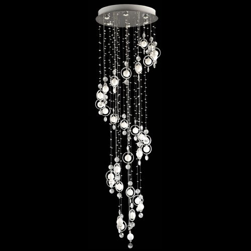 Lite Source Lighting Lite Source Lighting Bubbles Nickel Pendant Light EL-10076