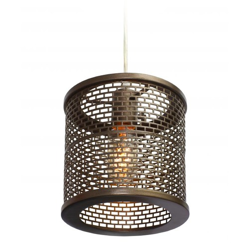 Varaluz Lighting Lit-Mesh Test Stamped Steel Mini-Pendant Light 231M01NB