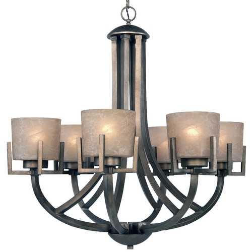 California Bronze Sixlight Chandelier 163045