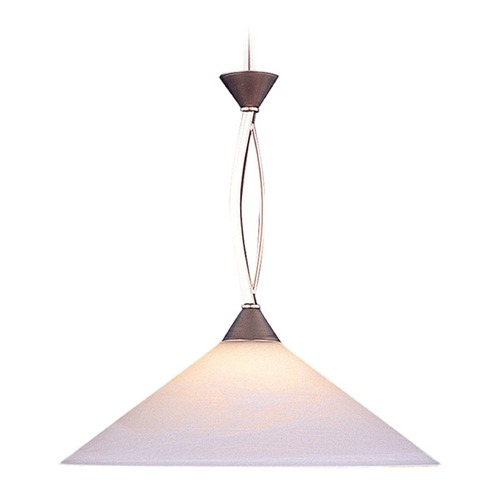 Elk Lighting Elk Lighting Elysburg Satin Nickel LED Pendant Light with Conical Shade 6500/1-LED