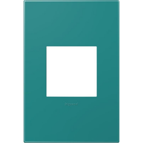 Legrand Adorne Legrand Adorne Turquoise Blue 1-Gang Switch Plate AWP1G2TB4