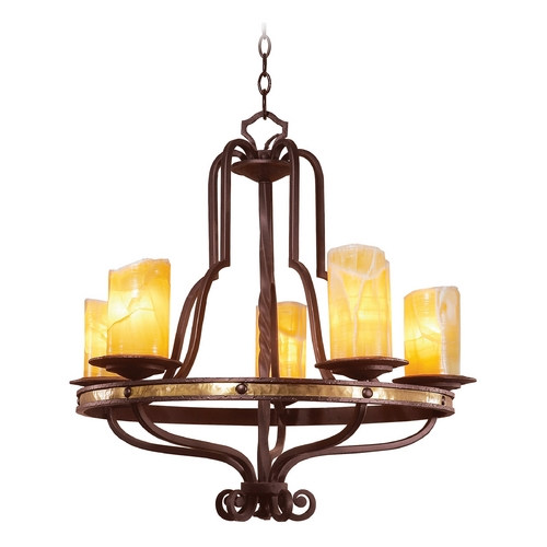 Kalco Lighting Kalco Lighting Durango Tawny Port Chandelier 6099TP-2/CALC