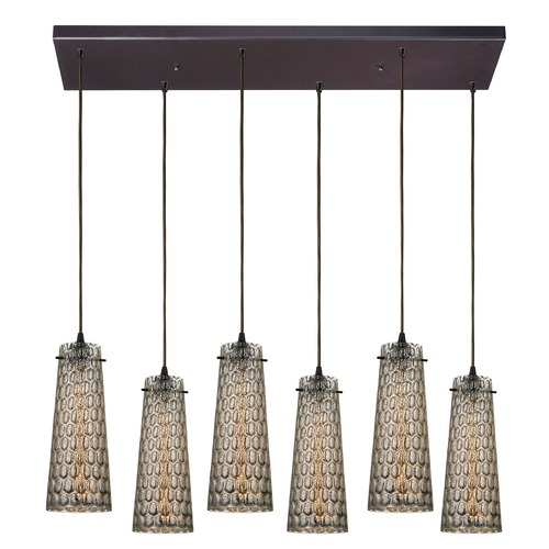 Elk Lighting Elk Lighting Jerard Oil Rubbed Bronze Multi-Light Pendant with Conical Shade 10248/6RC