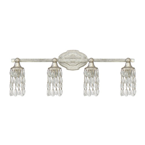 Capital Lighting Capital Lighting Blakely Antique Silver Bathroom Light 8524AS-CR