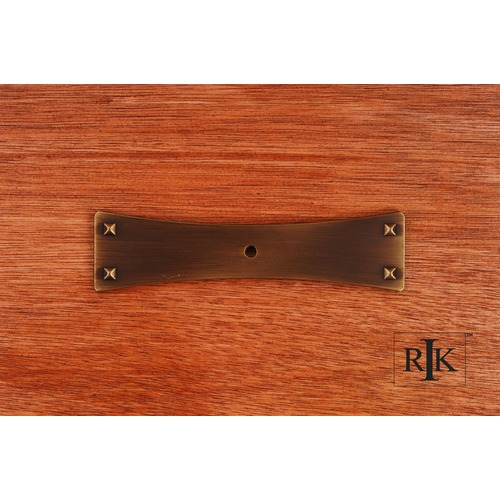 RK International Bent Rectangular One Hole Backplate BP7903AE
