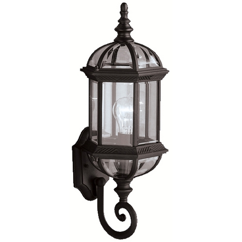 Kichler Lighting Kichler Outdoor Wall Light with Clear Glass in Black Finish 9736BK