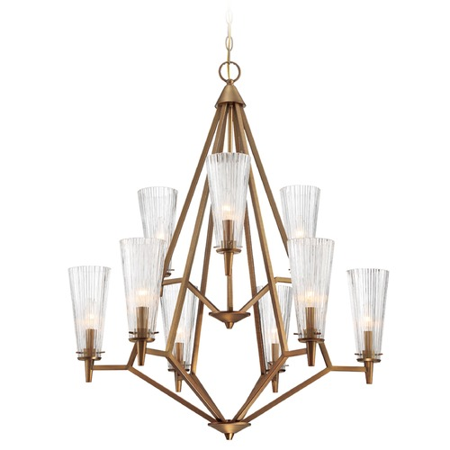 Designers Fountain Lighting Designers Fountain Montelena Old Satin Brass Chandelier 88989-OSB