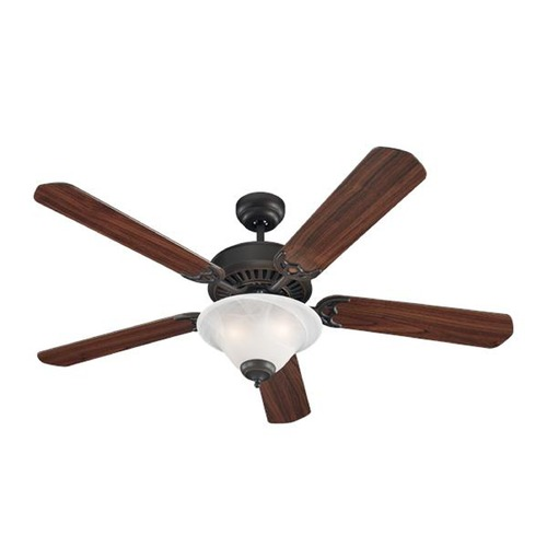 Sea Gull Lighting Sea Gull Lighting Quality Pro Delux Ceiling Fans Roman Bronze Ceiling Fan with Light 15163B-191