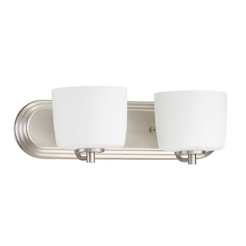 Craftmade Lighting Craftmade Lighting Clarendon Brushed Polished Nickel Bathroom Light 43502-BNK
