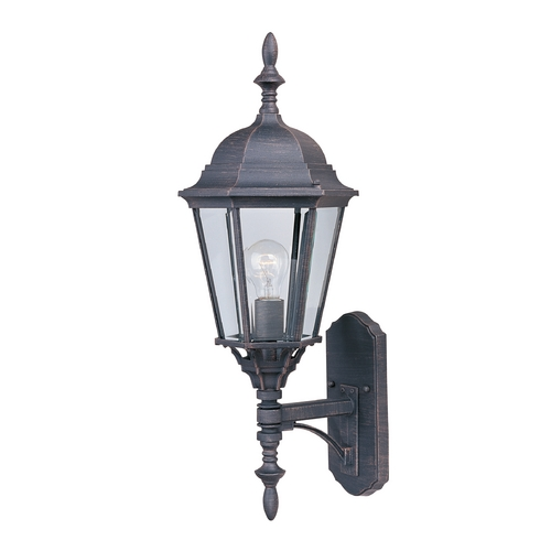 Maxim Lighting Outdoor Wall Light with Clear Glass in Rust Patina Finish 1003RP