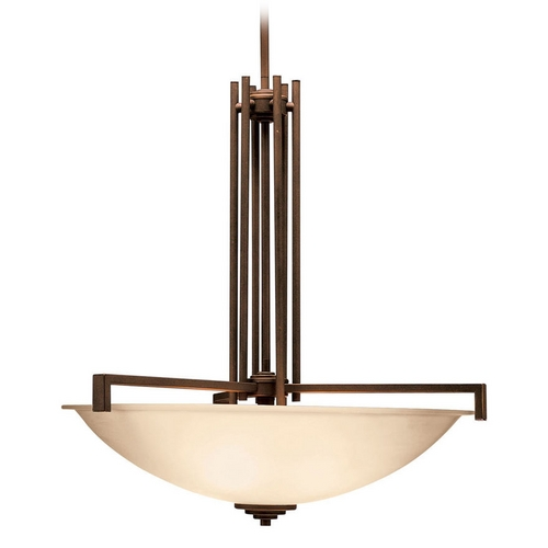 Kichler Lighting Kichler Pendant Light with Beige / Cream Shades in Olde Bronze Finish 3299OZ