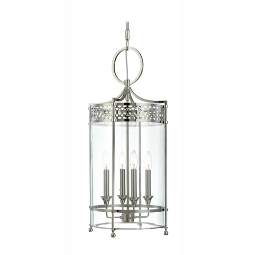 Hudson Valley Lighting Pendant Light with Clear Glass in Antique Nickel Finish 8994-AN