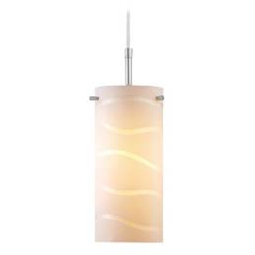 Lite Source Lighting Modern Mini-Pendant Light with White Glass LS-19991WHT