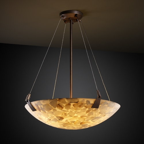 Justice Design Group Justice Design Group Alabaster Rocks! Collection Pendant Light ALR-9642-35-DBRZ