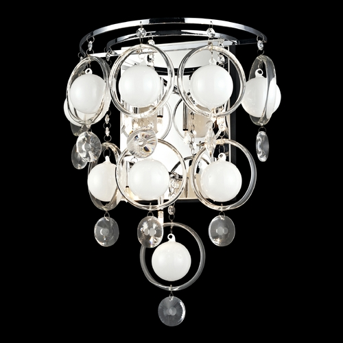 Lite Source Lighting Lite Source Lighting Bubbles Nickel Wall Lamp EL-10077