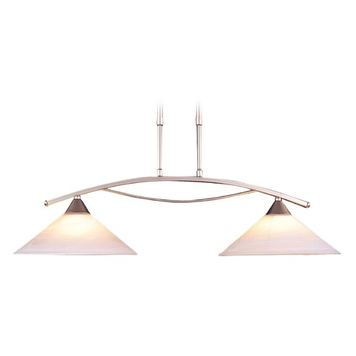 Elk Lighting Elk Lighting Elysburg Satin Nickel LED Island Light with Conical Shade 6501/2-LED
