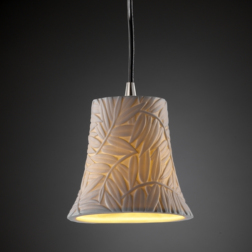 Justice Design Group Justice Design Group Limoges Collection Mini-Pendant Light POR-8815-20-BMBO-NCKL