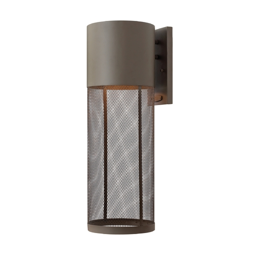 Hinkley Lighting Modern Outdoor Wall Light in Buckeye Bronze Finish 2305KZ