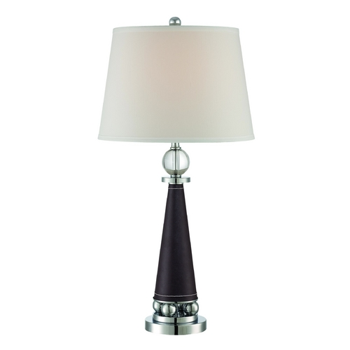 Lite Source Lighting Lite Source Lighting Talia Chrome Table Lamp with Drum Shade LS-22300